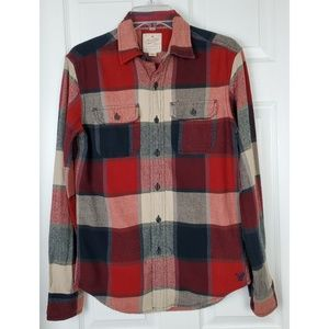 Heritage flannel plaid Button down shirt size XS